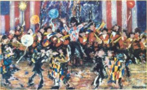 Painting: No. 169 CELEBRATION (4TH OF JULY)